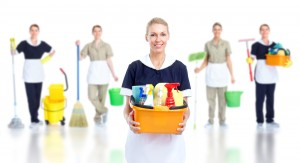 bigstock-Cleaner-maid-woman-group-Isol-25077971
